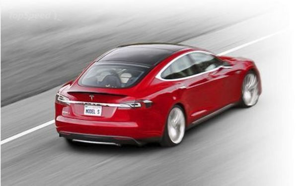 A red Tesla S sedan. A Diminished Value Appraiser in Brooklyn, New York call 772-359-4300.