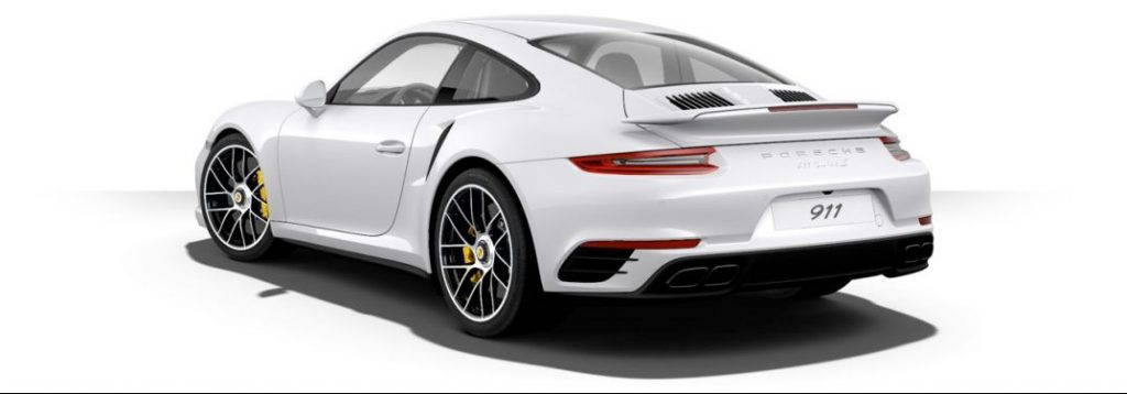 White Porsche. Vehicle Valuation Report for Title and Registration.