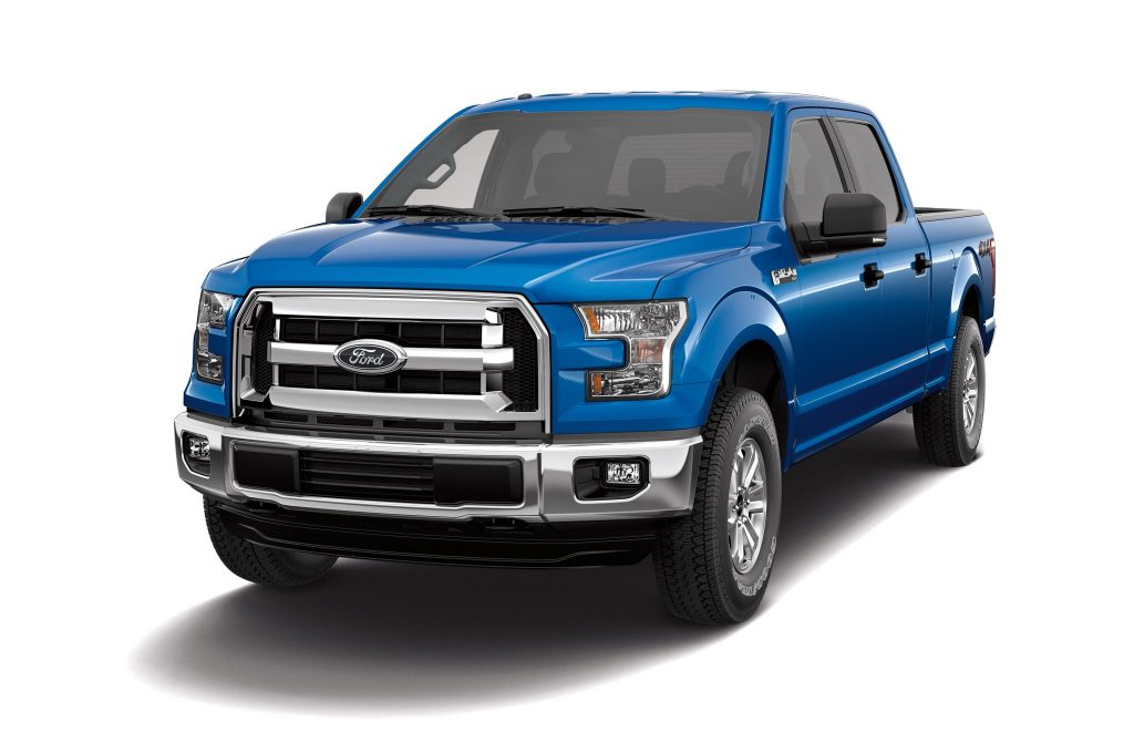 A blue Ford F-150 Pickup truck. A Diminished Value Appraiser in Connecticut call 772-359-4300.